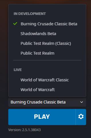 Burning Crusade کلاسیک